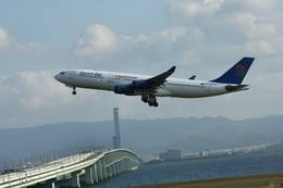 jk3yhgさんが、関西国際空港で撮影したエジプト航空 A340-212の航空フォト(飛行機 写真・画像)