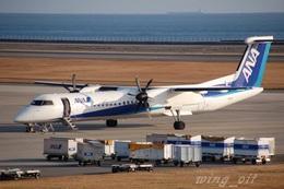 wing_oitさんが、大分空港で撮影した全日空 DHC-8-402Q Dash 8の航空フォト(飛行機 写真・画像)