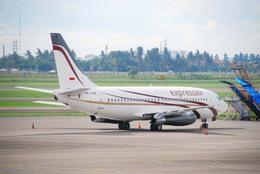 まいけるさんが、スカルノハッタ国際空港で撮影したエクスプレス・エア 737-2B7/Advの航空フォト(飛行機 写真・画像)