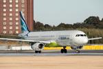 パンダさんが、成田国際空港で撮影したエアプサン A321-131の航空フォト(写真)