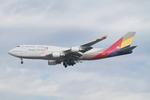 matsuさんが、ロサンゼルス国際空港で撮影したアシアナ航空 747-48Eの航空フォト(写真)