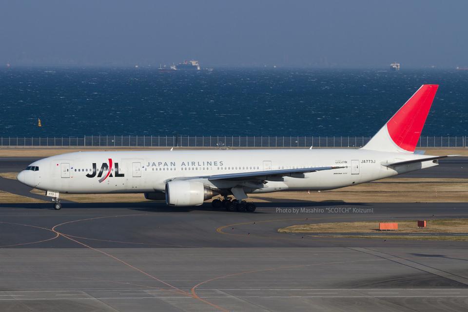 Scotchさんの日本航空 Boeing 777-200 (JA773J) 航空フォト