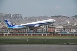 hkg blue skyさんが、大連周水子国際空港で撮影した全日空 767-381/ERの航空フォト(飛行機 写真・画像)