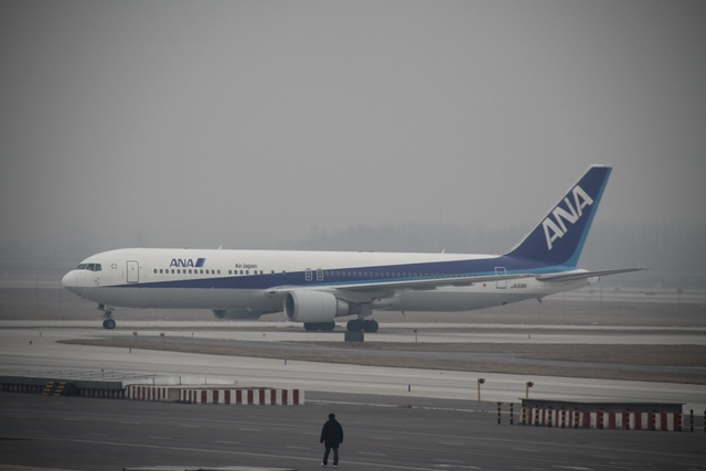 hkg blue skyさんが、北京首都国際空港で撮影した全日空 767-381/ERの航空フォト(飛行機 写真・画像)