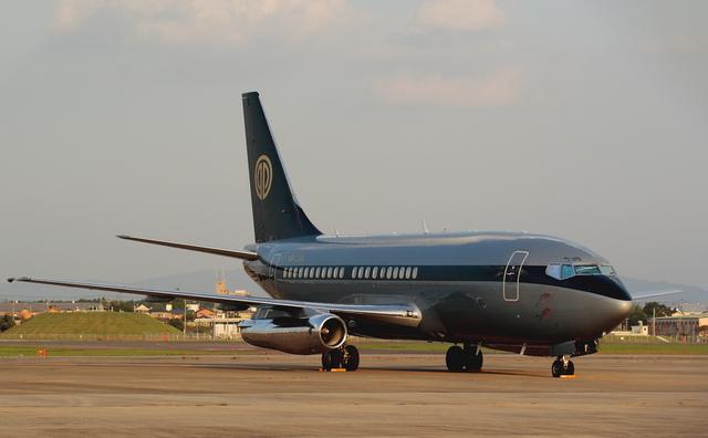 ありさんが、名古屋飛行場で撮影したスカイ・アヴィエーション 737-2W8/Advの航空フォト(飛行機 写真・画像)