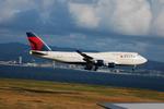 snow_shinさんが、関西国際空港で撮影したデルタ航空 747-451の航空フォト(飛行機 写真・画像)