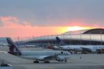 関西国際空港 - Kansai International Airport [KIX/RJBB]で撮影されたカタール航空 - Qatar Airways [QR/QTR]の航空機写真