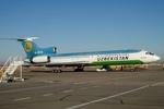 RUSSIANSKIさんが、カルシ空港で撮影したウズベキスタン航空 Tu-154Mの航空フォト(飛行機 写真・画像)