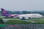 Scotchさんが、成田国際空港で撮影したタイ国際航空 747-4D7(BCF)の航空フォト(写真)