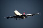 パンダさんが、成田国際空港で撮影したデルタ航空 747-451の航空フォト(写真)