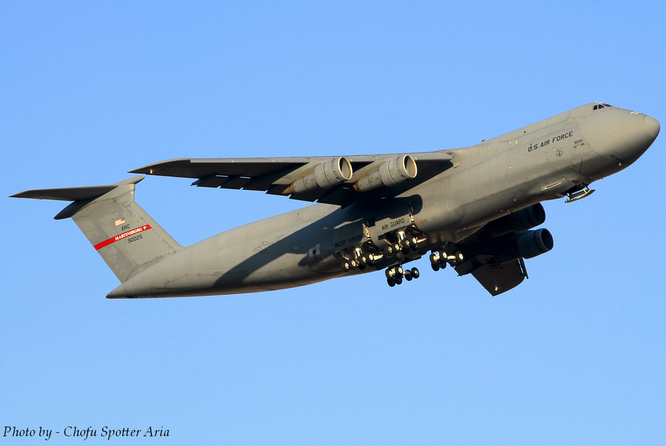 Chofu Spotter Ariaさんのアメリカ空軍 Lockheed C-5 Galaxy (69-0025) 航空フォト