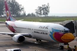 kingmengraiさんが、プーケット国際空港で撮影したノックエア 737-4Y0の航空フォト(飛行機 写真・画像)