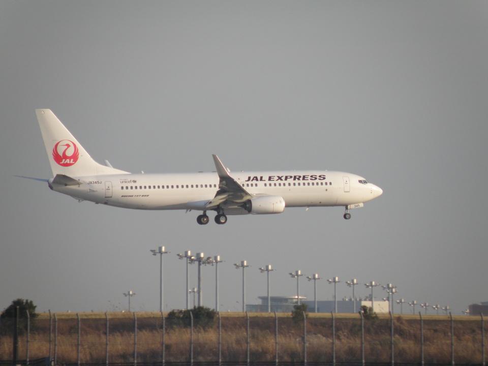 yumingさんの日本航空 Boeing 737-800 (JA345J) 航空フォト