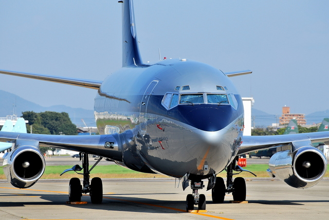 jun☆さんが、名古屋飛行場で撮影したスカイ・アヴィエーション 737-2W8/Advの航空フォト(飛行機 写真・画像)