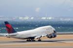 アイスコーヒーさんが、中部国際空港で撮影したデルタ航空 747-451の航空フォト(飛行機 写真・画像)