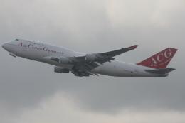 よっしぃさんが、香港国際空港で撮影したエア・カーゴ・ジャーマニー 747-412(BCF)の航空フォト(飛行機 写真・画像)