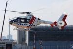 へりさんが、東京ヘリポートで撮影した東邦航空 EC135T2の航空フォト(写真)