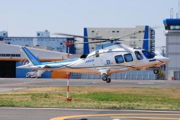 へりさんが、東京ヘリポートで撮影した日本デジタル研究所(JDL) AW109SPの航空フォト(写真)