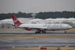 uhfxさんが、成田国際空港で撮影したヴァージン・アトランティック航空 A340-313Xの航空フォト(飛行機 写真・画像)