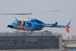 へりさんが、東京ヘリポートで撮影した大阪府警察 206L-4 LongRanger IVの航空フォト(写真)
