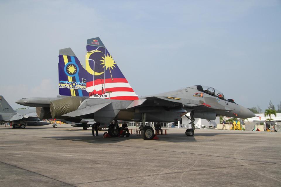 mountainhomeさんのマレーシア空軍 Sukhoi Su-30 (M52-14) 航空フォト