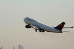 ふじいあきらさんが、羽田空港で撮影したデルタ航空 747-451の航空フォト(飛行機 写真・画像)