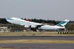 アイスコーヒーさんが、成田国際空港で撮影したキャセイパシフィック航空 747-467F/SCDの航空フォト(飛行機 写真・画像)