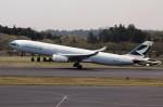アイスコーヒーさんが、成田国際空港で撮影したキャセイパシフィック航空 A330-342の航空フォト(飛行機 写真・画像)