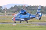 ふじいあきらさんが、広島空港で撮影した広島県警察 AS365N2 Dauphin 2の航空フォト(飛行機 写真・画像)