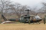 西風さんが、弘前駐屯地で撮影した陸上自衛隊 UH-1Jの航空フォト(写真)
