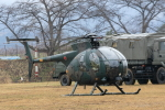西風さんが、弘前駐屯地で撮影した陸上自衛隊 OH-6Dの航空フォト(写真)