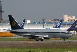 青春の1ページさんが、成田国際空港で撮影したスカイ・アヴィエーション 737-2W8/Advの航空フォト(写真)
