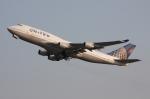 WING_ACEさんが、関西国際空港で撮影したユナイテッド航空 747-422の航空フォト(飛行機 写真・画像)