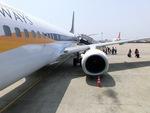 すだなさんが、チェンナイ国際空港で撮影したジェットエアウェイズ 737-85Rの航空フォト(写真)