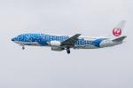 xxxxxzさんが、那覇空港で撮影した日本トランスオーシャン航空 737-4Q3の航空フォト(飛行機 写真・画像)