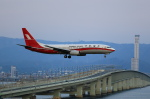 T.Sazenさんが、関西国際空港で撮影した上海航空 737-8Q8の航空フォト(飛行機 写真・画像)