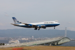 たろさんが、関西国際空港で撮影したユナイテッド航空 747-422の航空フォト(写真)