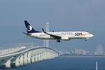 xxxxxzさんが、関西国際空港で撮影した山東航空 737-8FHの航空フォト(飛行機 写真・画像)