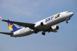 Kuuさんが、鹿児島空港で撮影したスカイマーク 737-8FHの航空フォト(飛行機 写真・画像)