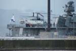 E-75さんが、函館港 港町埠頭 ロシア海軍ウダロイ級駆逐艦アドミラル・パンテレーエフ艦上で撮影したロシア海軍 Ka-27PLの航空フォト(写真)