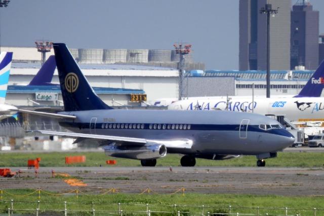 多楽さんが、成田国際空港で撮影したスカイ・アヴィエーション 737-2W8/Advの航空フォト(飛行機 写真・画像)
