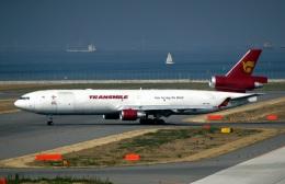 なごやんさんが、中部国際空港で撮影したトランスマイル・エア・サービス MD-11Fの航空フォト(写真)