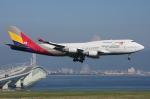 WING_ACEさんが、関西国際空港で撮影したアシアナ航空 747-48EMの航空フォト(飛行機 写真・画像)