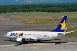 パンダさんが、新千歳空港で撮影したスカイマーク 737-8FHの航空フォト(写真)