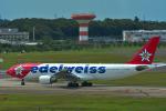 パンダさんが、成田国際空港で撮影したエーデルワイス航空 A330-223の航空フォト(飛行機 写真・画像)