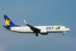 パンダさんが、新千歳空港で撮影したスカイマーク 737-81Dの航空フォト(飛行機 写真・画像)