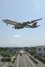 さっしんさんが、名古屋飛行場で撮影したノースウエスト航空 747-451の航空フォト(写真)