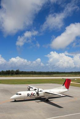 安芸あすかさんが、南大東空港で撮影した琉球エアーコミューター DHC-8-314 Dash 8の航空フォト(飛行機 写真・画像)