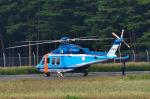 パンダさんが、松本空港で撮影した長野県警察 AW139の航空フォト(写真)