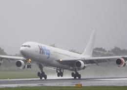 ふじいあきらさんが、広島空港で撮影したハイフライ航空 A340-313Xの航空フォト(飛行機 写真・画像)